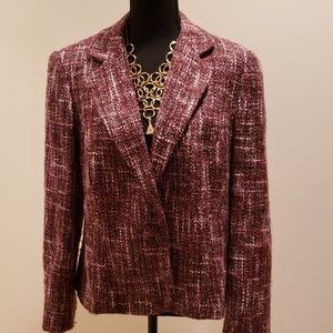 Mossimo pink and burgundy tweed jacket
